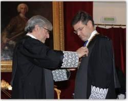 El Ministro de Justicia recibe la Gran Cruz de la Justicia Social