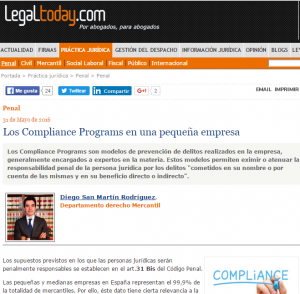 Compliance Program en Casadeley